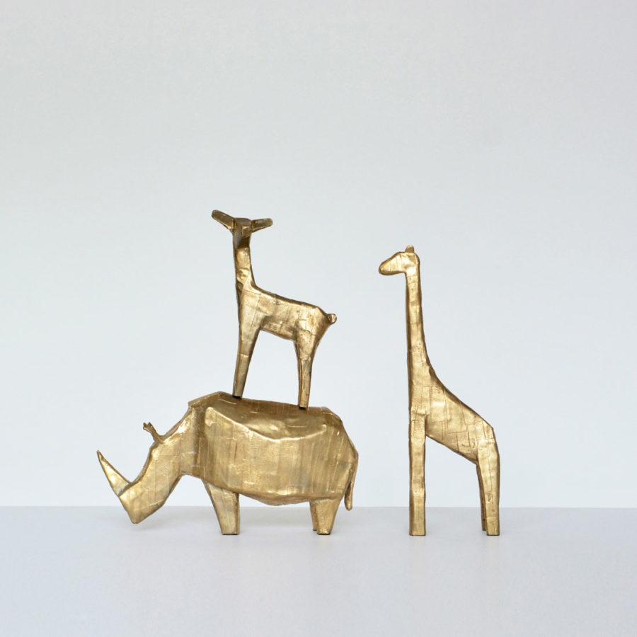 bronze skulpturen bei pulpo