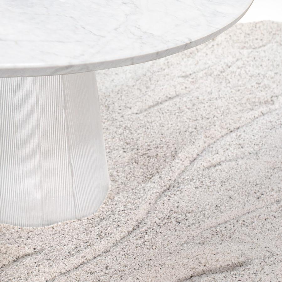 bent designer glass dining table Germany