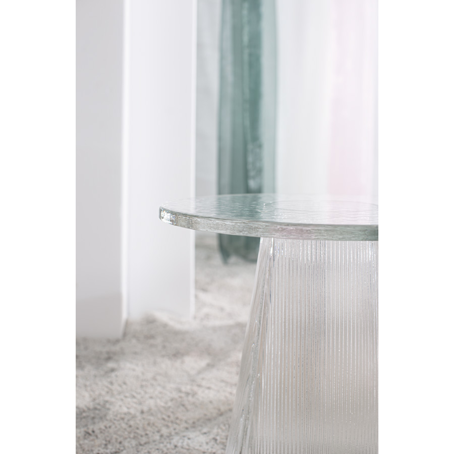 bent glass side table Germany