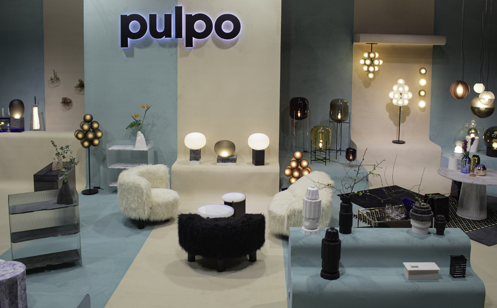 The pulpo booth at imm Cologne 2020