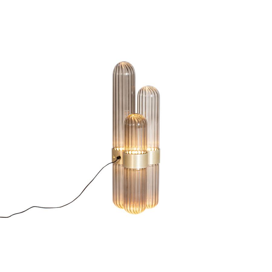 cactus lamp small smoky grey brass