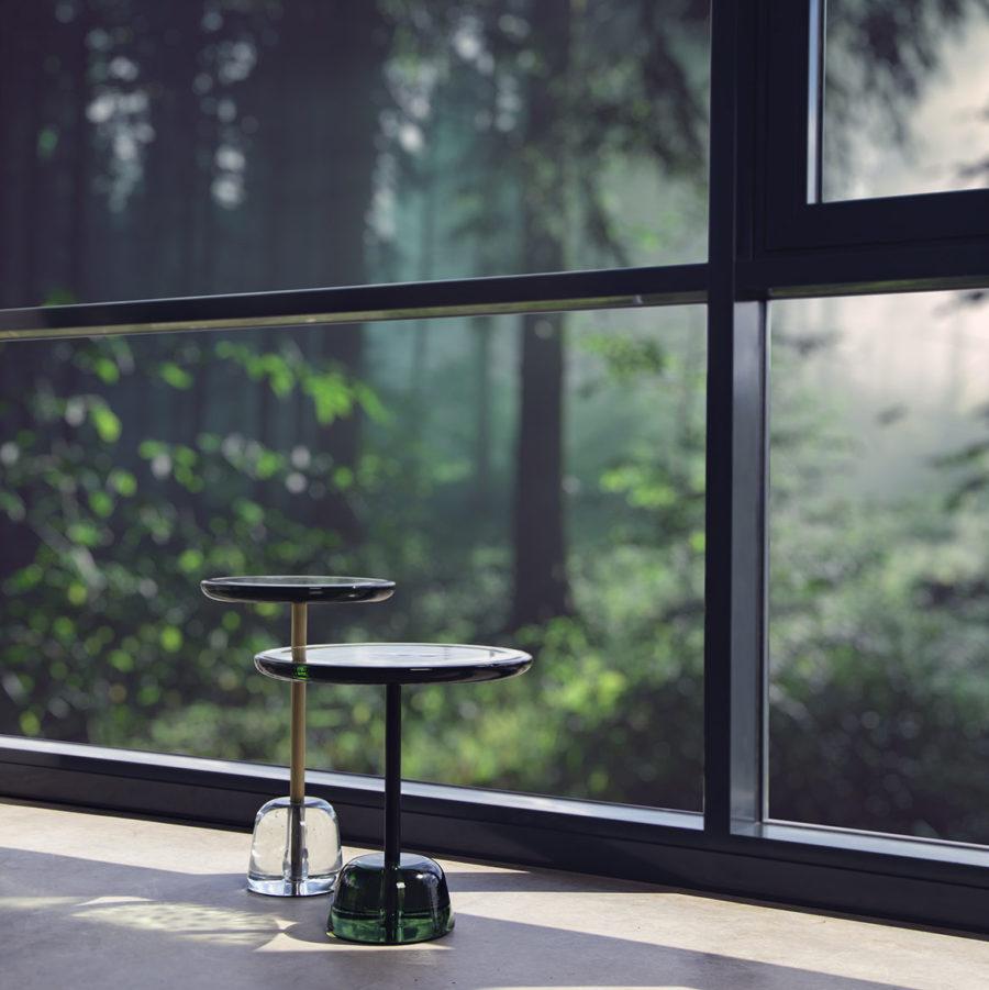 pina table Sebastian Herkner green transparent side tables