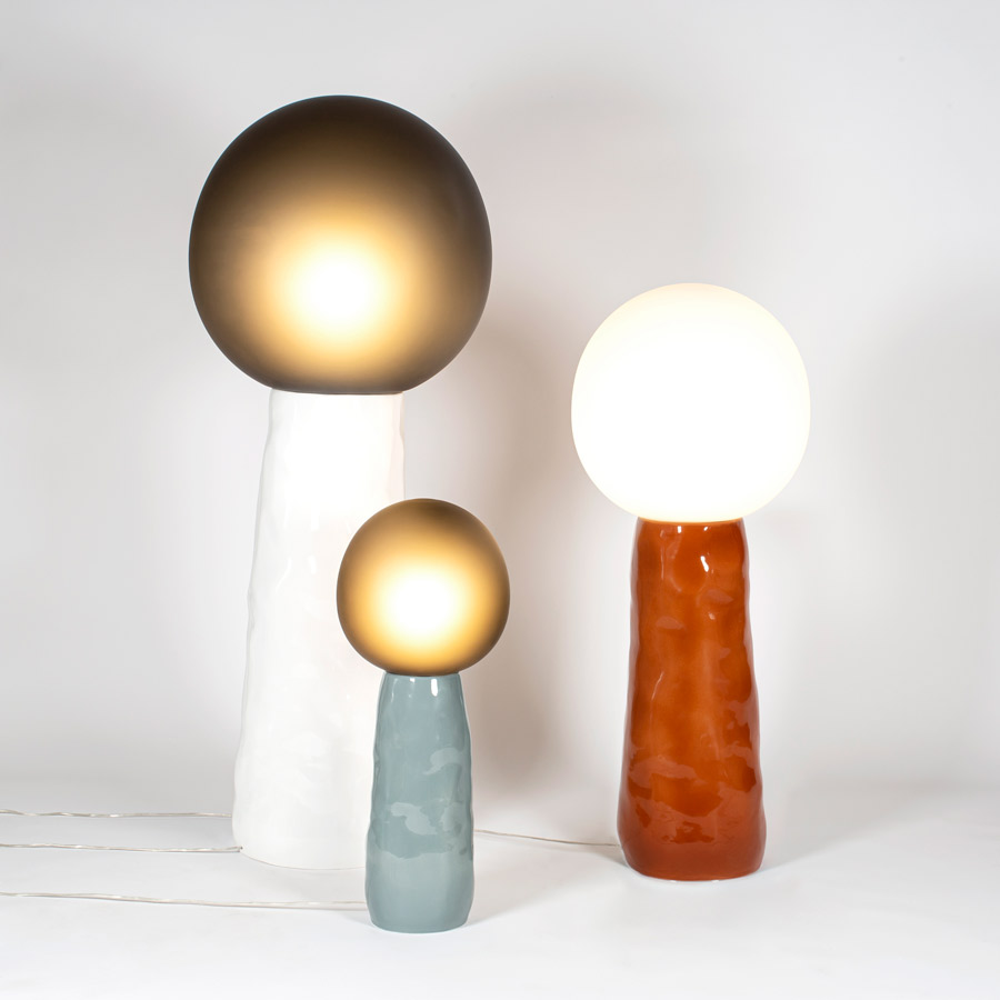 kokeshi lamps by kai linke