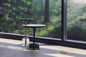 pina ambient Sebastian Herkner pulpoproducts green transparent side tables